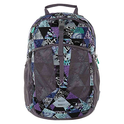 The North Face Y Recon Squash Bellflower Purp Bermuda Green Unisex Kids Big (North Face School Backpacks)