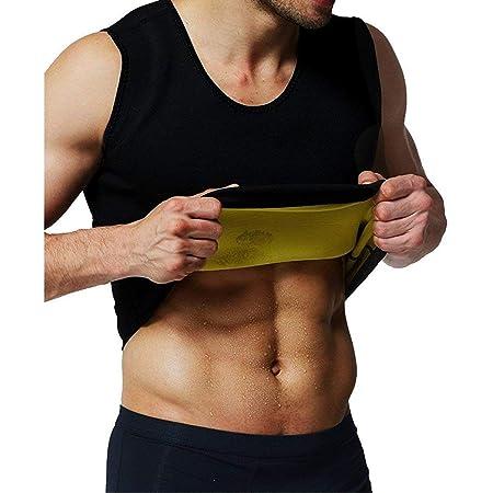 LiGG Herren Tank Top Taille Shapewear Waist Trainer Neopren Saunaweste Sauna Schwitzanzug Körperformer für Gewicht Loss Figur