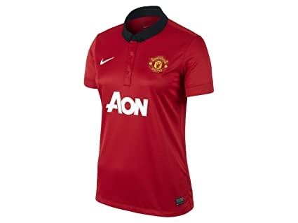 cedbb58ce Nike Manchester United Womens Short Sleeve Home Replica Jersey (Diablo Red)  (L)