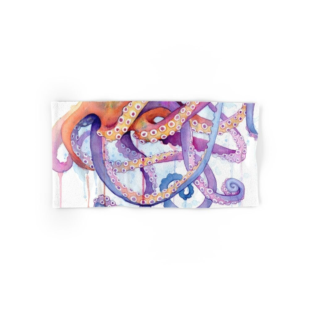 Society6 Octopus II Set of 4 (2 hand towels, 2 bath towels) by Society6