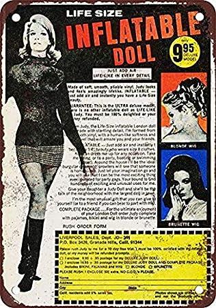 Amazon.com: Houseuse - Cartel retro de muñeca hinchable de ...