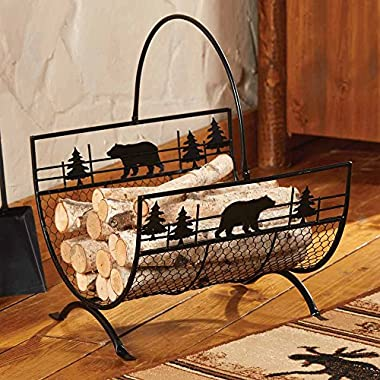 Bear Metal Firewood/Log Holder