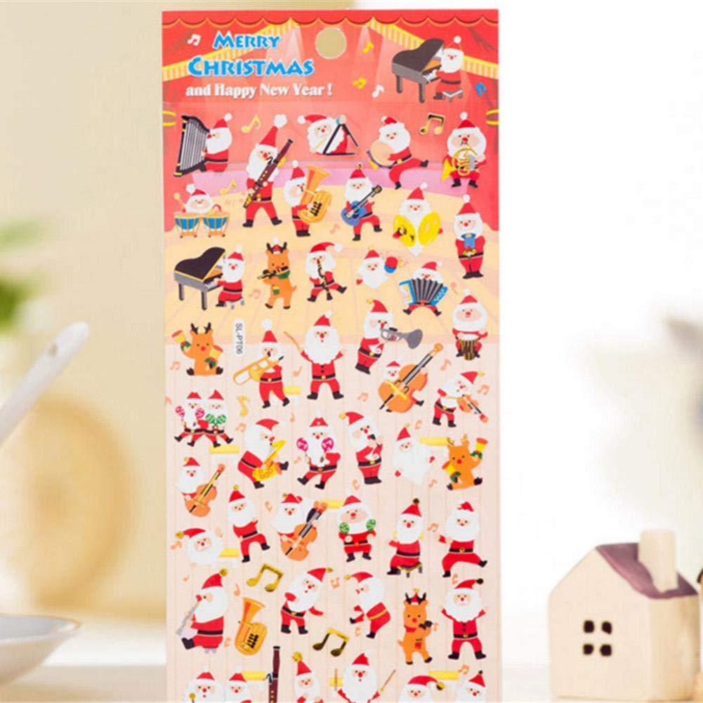 iStary Nuevas Navidad Pegatinas Engomadas Decorativas Etiquetas Engomadas Adhesivas Etiquetas Engomadas Diarias De DIY Regalo Paquete Reno Pluma Engomada De ...