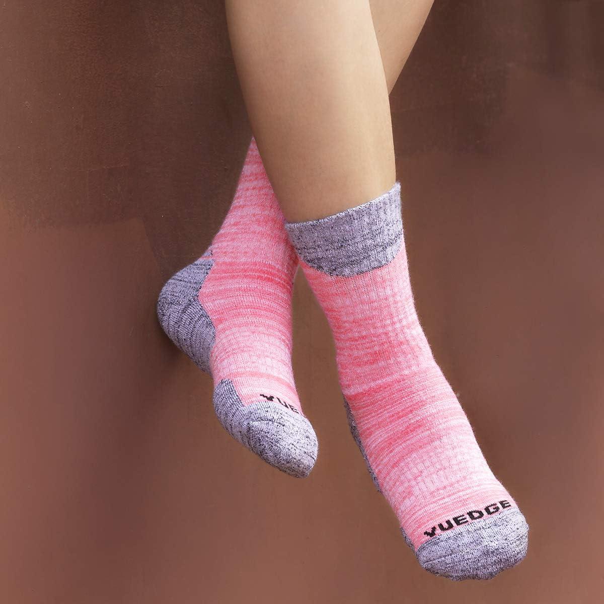 YUEDGE 3 Pares Mujeres Calcetines de Senderismo Trekking Anti ampollas Transpirables Corriendo Calcetines Deportivos
