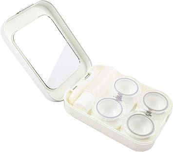 Caja de Lentes de Contacto Kit de Viaje SFY Estuche Lentillas con Pinza Aplicador Pala Botella de Solución Espejo Incorporado (CL01-1): Amazon.es: Salud y cuidado personal