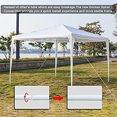 YYAO Outdoor Gazebo Canopy 10 x 10 ft White Waterproof Wedding Canopy Tent with Removable Sidewalls and Windows Heavy Duty Tent for Party Events, 3 Sides : Garden & Outdoor