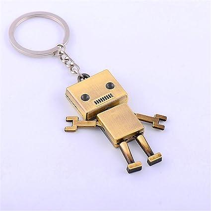 jewelbeauty Mini Robot clave cadena diseño creativo 3d DIY ...