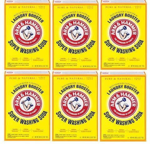 Dwights Soda - Arm & Hammer Church & Dwight Co 03020 Super Washing Soda 55 oz. (Pack of 6)