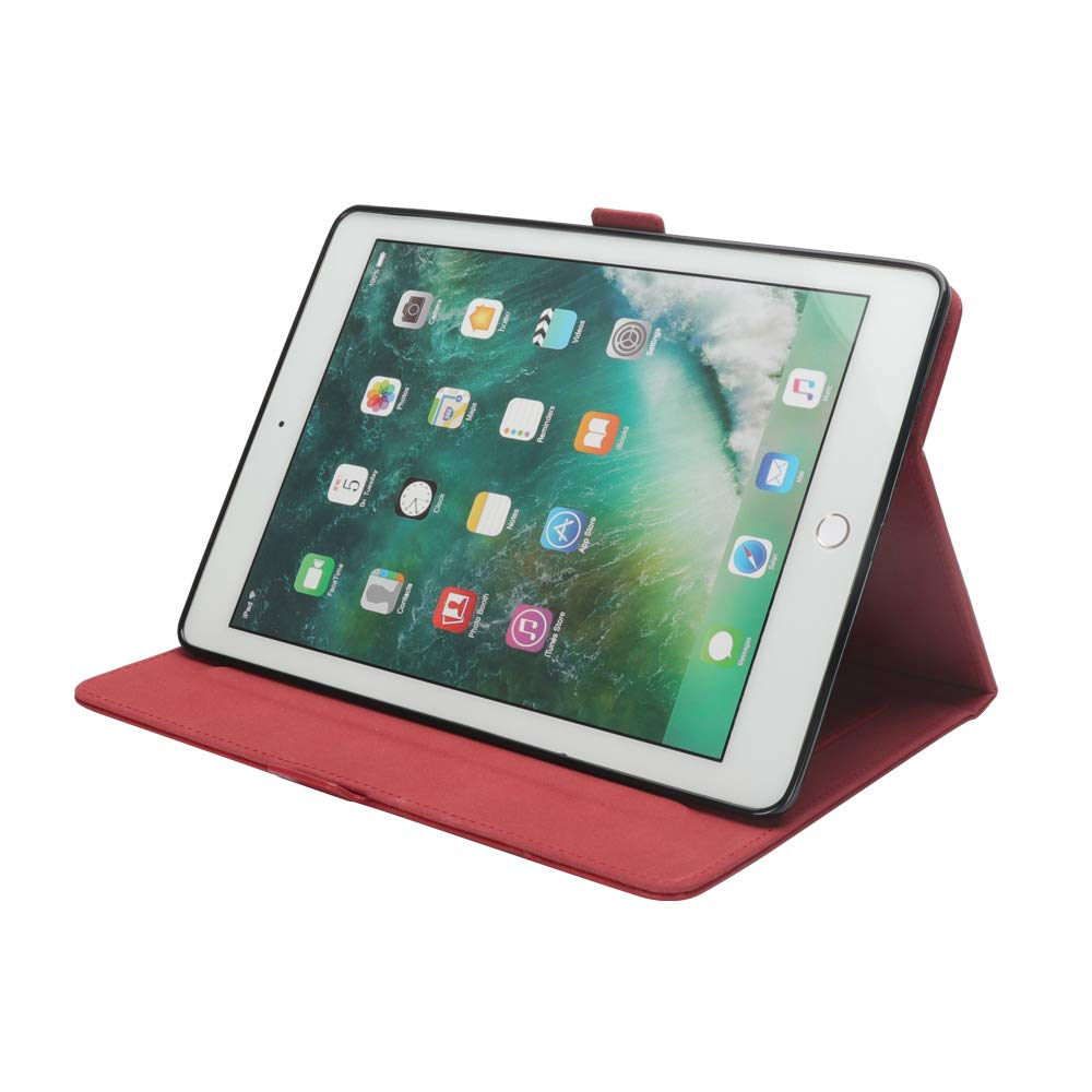 iPad 10.5 Air 3rd Generation Case, taStone Premium PU Leather Business Folio Cover Stand Case with Card Holder Auto Wake/Sleep Document Pocket for iPad Air 3rd Gen 2019 / iPad Pro 10.5'',Red by US taStone (Image #3)