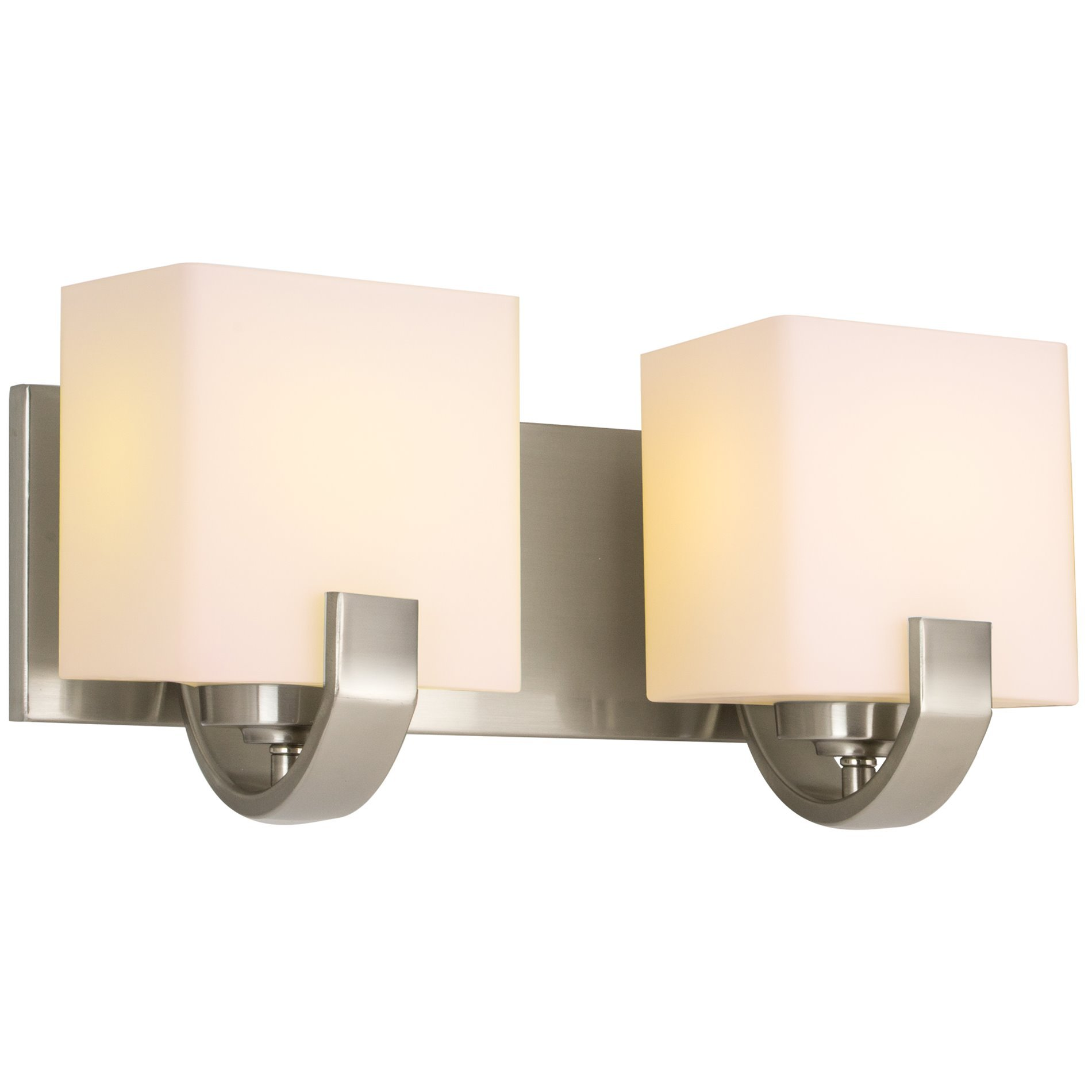 Revel Caroline 16'' 2-Light Contemporary Vanity/Bathroom Light, Brushed Nickel Finish by Kira Home
