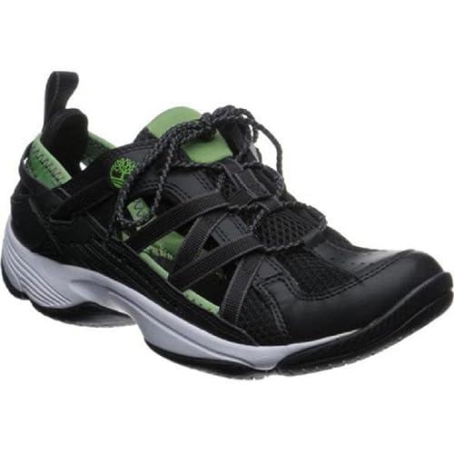 Timberland Zapatillas de Senderismo de Material Sintético Para Hombre Negro Schwarz Mit grünen Akzenten 44.5: Amazon.es: Zapatos y complementos