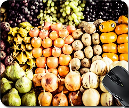 MSD Natural Rubber Mouse Pad Mouse Pads/Mat design 20395731 Colorful Vegetables and Fruits marketplace Peru