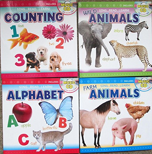 Alphabet Cd Book (Sing Read Learn Bundle Set of 4 Books With CD's Counting Alphabet Farm and Wild Animals)