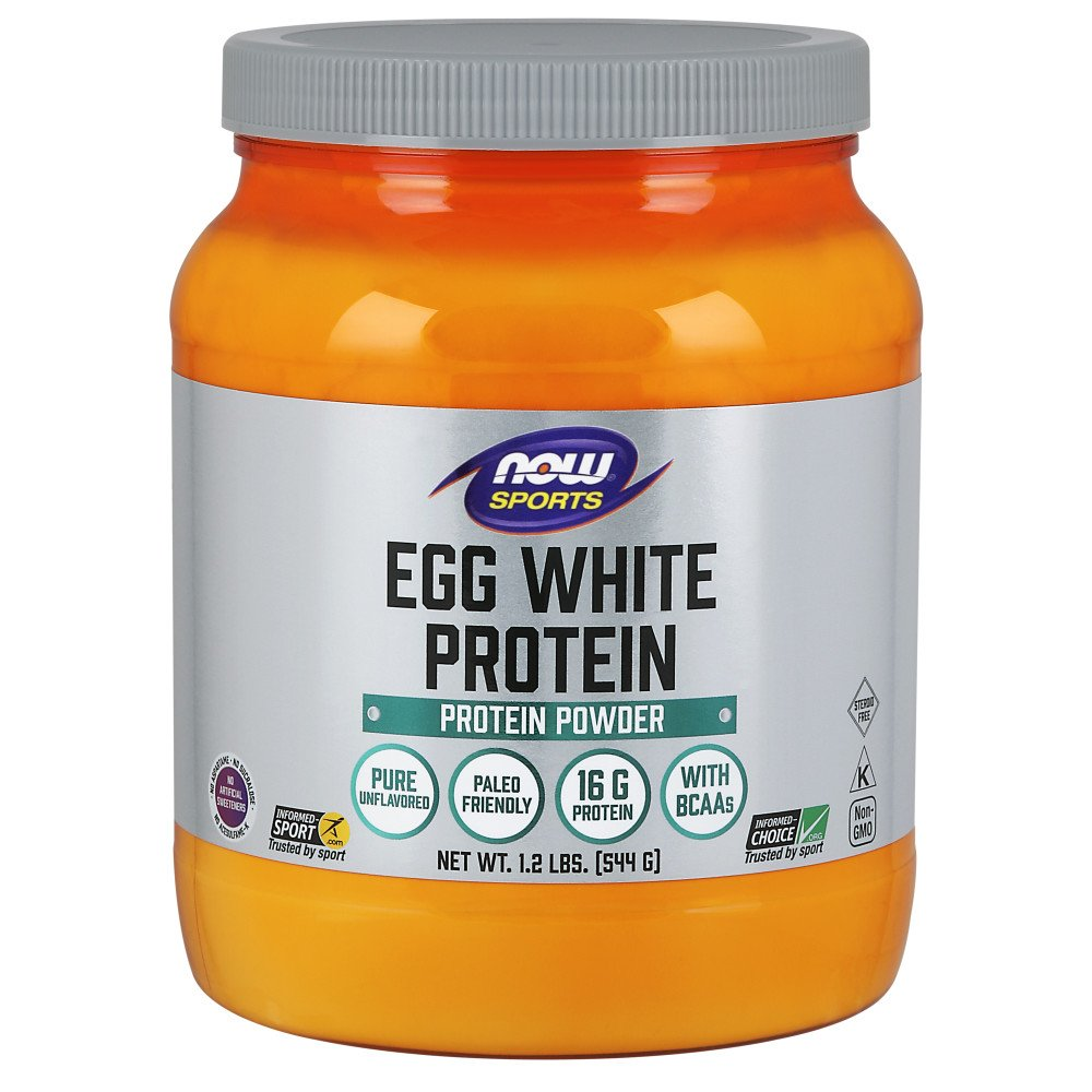 NOW Sports Nutrition, Egg White Protein, Unflavored Powder, 1.2-Pound by NOW Foods