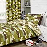 Army Camouflage Lined 72' Drop Curtains