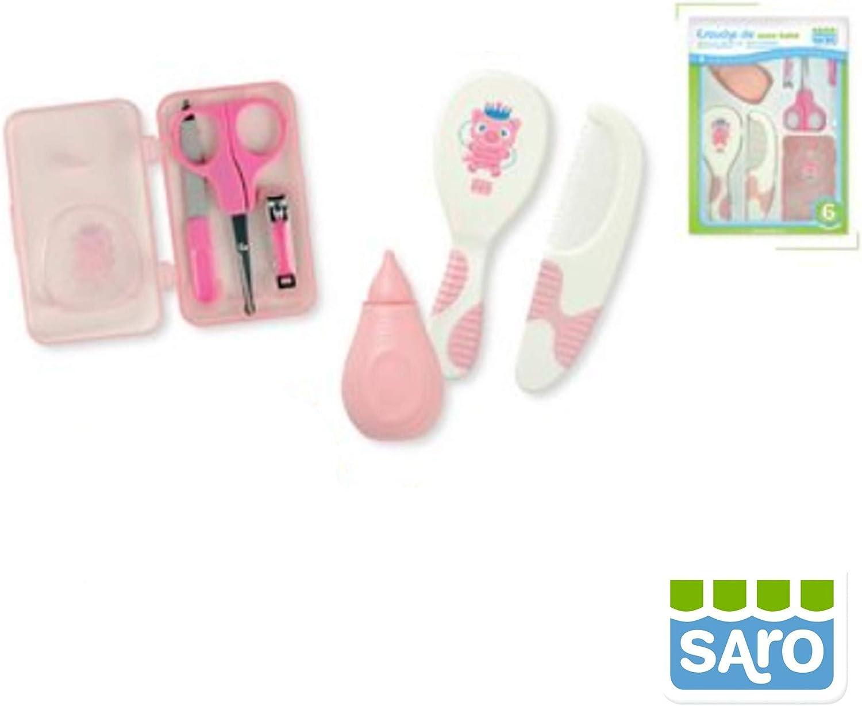 SARO - ESTUCHE ASEO BEBE bebé-niños color: ROSA talla: talla única: Amazon.es: Ropa y accesorios