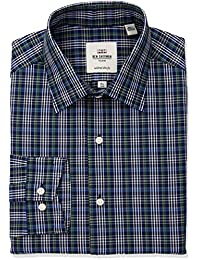 Men's Overcheck Soho Spread Fit Dress Shirt