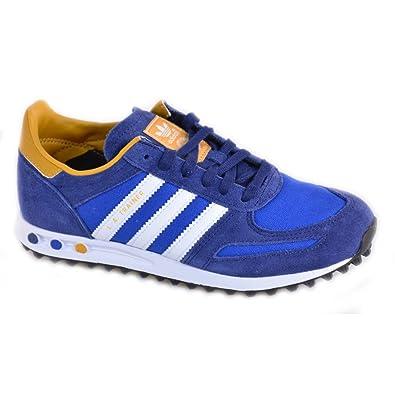 Adidas Adidas LA Trainer Schuhe Blau Leder und Textil
