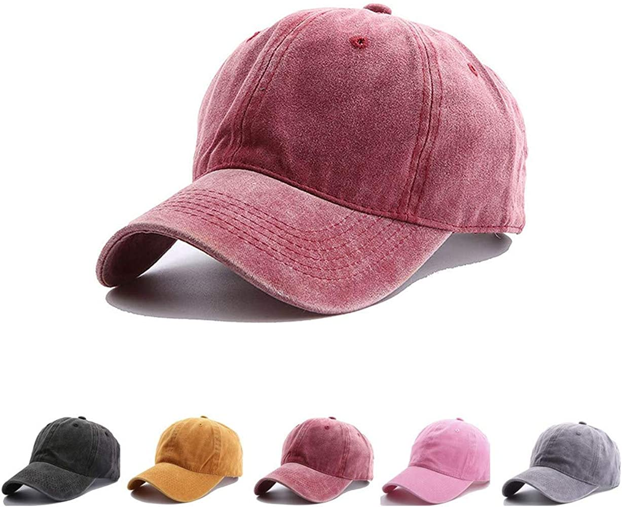 OVOY Boys Baseball Hat Toddler Cotton Distressed Age for 2-8 Years