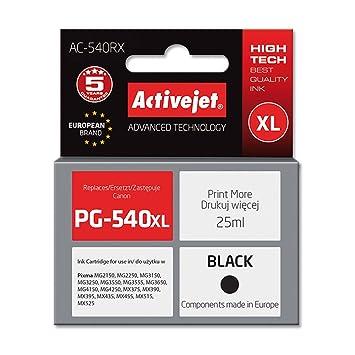ActiveJet AC-540RX cartucho de tinta Compatible Negro - Cartucho de tinta para impresoras (Compatible, Negro, Tinta a base de pigmentos, Canon, Canon, ...