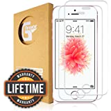 G-Armor iPhone SE, 5s, 5c, 5 Screen Protector Cover (2 Pack) - Tempered Glass, Ultra Clear, Easy Application, Anti Scratch, Case Friendly, 4-inch Protective Display Guard