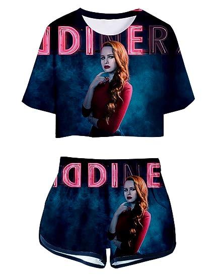 b395a1b4f54203 Riverdale Tops und Hosen Damen, Teenager Mädchen Southside Serpents T-Shirt  und Shorts Mode