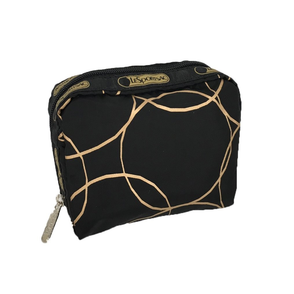 LeSportsac Women's Classic Square Cosmetic Case (Gold Links)