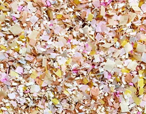 Blush Peach Grey Floral Bulk Confetti Mix Biodegradable Party Wedding Decorations Decor Flower Girl Basket Confetti Throwing Send Off InsideMyNest (25 Handfuls)