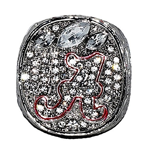 UNIVERSITY OF ALABAMA (Nick Saban) 2012 NCAA BCS NATIONAL CHAMPIONS (Back to Back Wins) Crimson Tide vs. Notre Dame Rare & Collectible High Quality Replica College Football Championship Ring with Cherrywood Display Box
