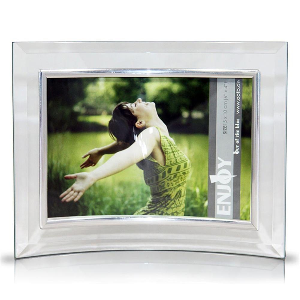 Bilderrahmen Glas 15X10 cm, Artikel-Nr. 94-2099, gebogen Querformat ...