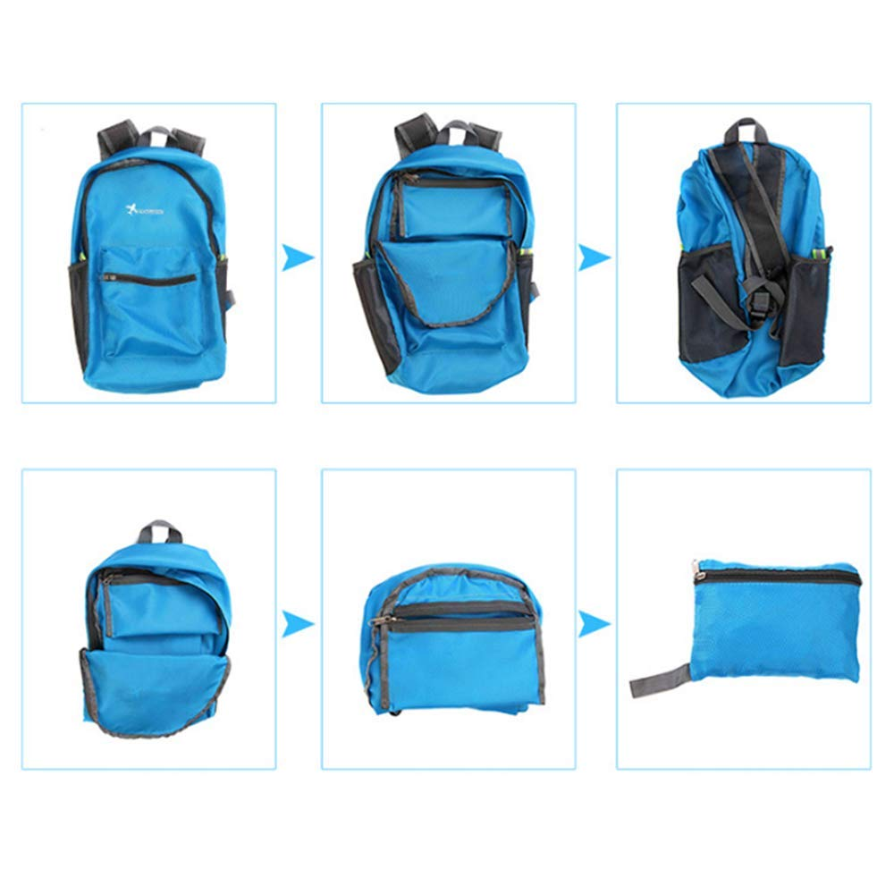 Glumes Ultra Lightweight Packable Backpack Water Resistant Hiking Daypack,Small Backpack Handy Foldable Camping Outdoor Backpack Little Bag by Glumes (Image #6)