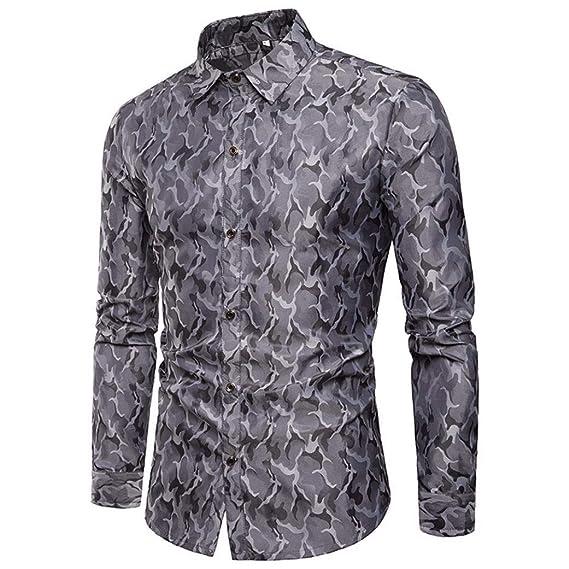 31034bb6b5 Winwintom -Camisas Hombre Camisas Hombre De Manga Larga
