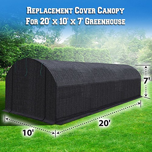 BenefitUSA 20'X10'X7'H Replacement Cover for Green House (Frame Not Include) (H) Greenhouse by BenefitUSA