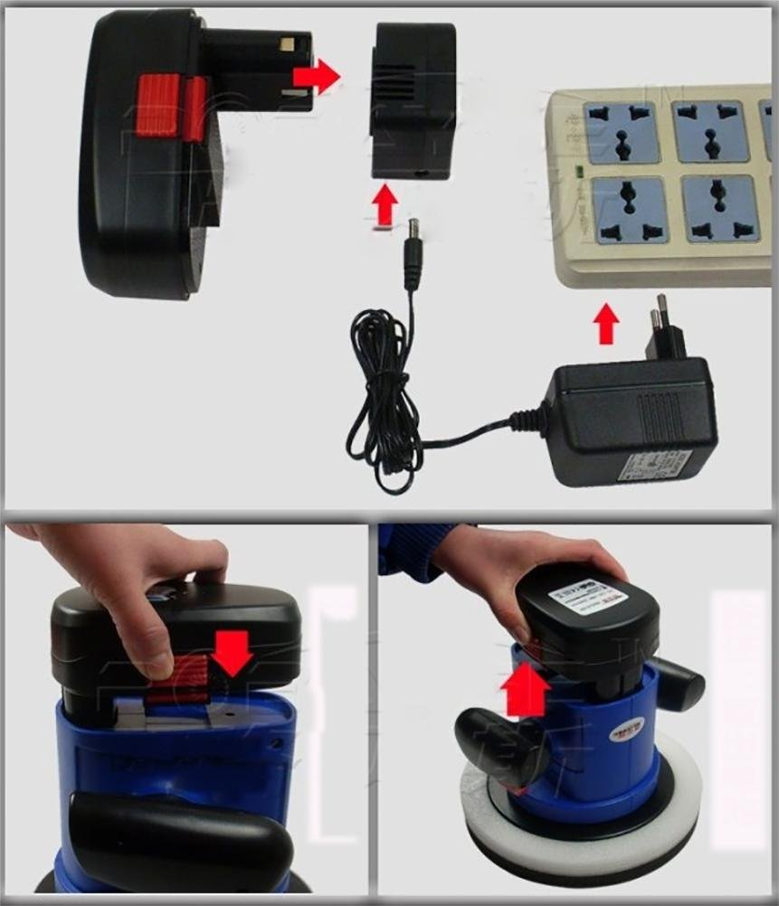 ROBAYSE 12V Cordless Rechargeable Car Polisher by ROBAYSE (Image #4)