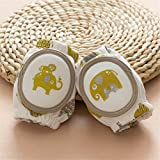 Gold Happy Baby Knee Pads Crawling Protector Cotton Kids Kneecaps Children Cartoon Anti Slip Grils Boys Leg Warmers 6-24M