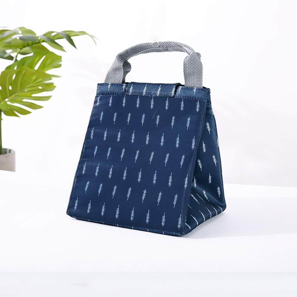 Seamount Trendy Lunch Bag Insulated Pouch Thermal Tote (Navy) by Seamount (Image #2)