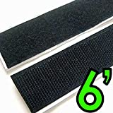 "2"" Adhesive Backed Hook & Loop Sticky Back Tape Fabric Fastener - 6 Feet"