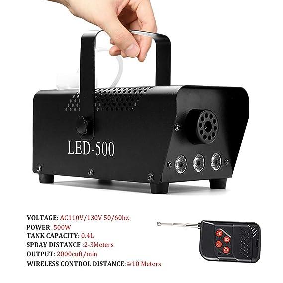 Amazon.com: Fog Machine, softeen 500W Led Fog Machine with Lights (Red, Blue, Green) Wireless Remote Control, Huge Fog 2000 CFM, Smoke Fog Machine for ...