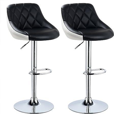 Material del asiento: imitación de cuero,Altura total: aprox 84 - 106 cm,Ajuste de altura del asient