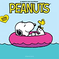 """Graphique Peanuts Happiness is Wall Calendar - 16-Month 2019 Calendar, 12""""x12"""" w/ 3 Languages, 4-Month Preview, Marked Holidays"""