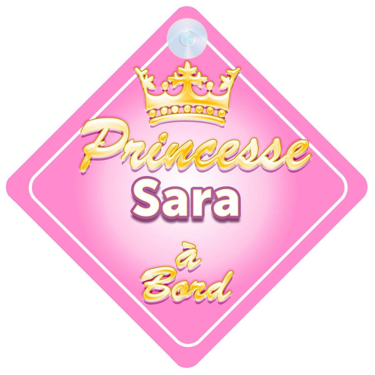 Couronne Princesse Sara Signe Pour Voiture Enfant/Bébé à Bord