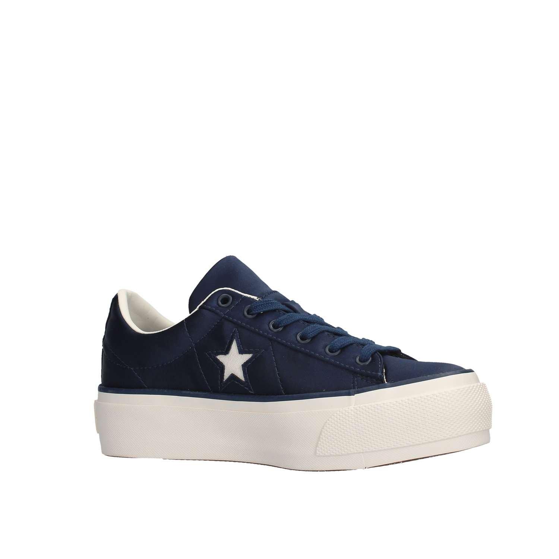 Converse 560988C ONE STAR PLATFORM OX SNEAKERS Femme DRESS BLUE xBTI1XPB