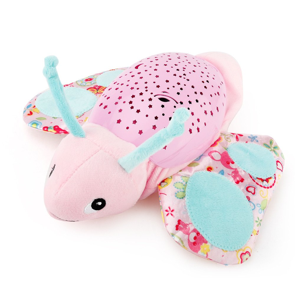 Infant Slumber Buddies Projection and Melodies Soother Beautiful Butterfly Baby Toy Birthday (A) erthome
