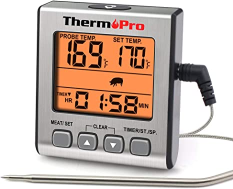 ThermoPro Meat Thermometer Digital Food Cooking Smoker Oven Grill Thermometer