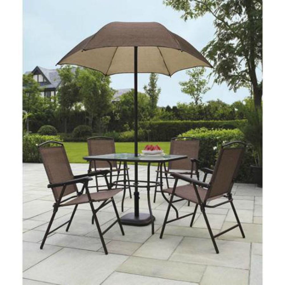Good Amazon.com : Sand Dune 6 Piece Patio Dining Set With Umbrella : Outdoor And Patio  Furniture Sets : Garden U0026 Outdoor