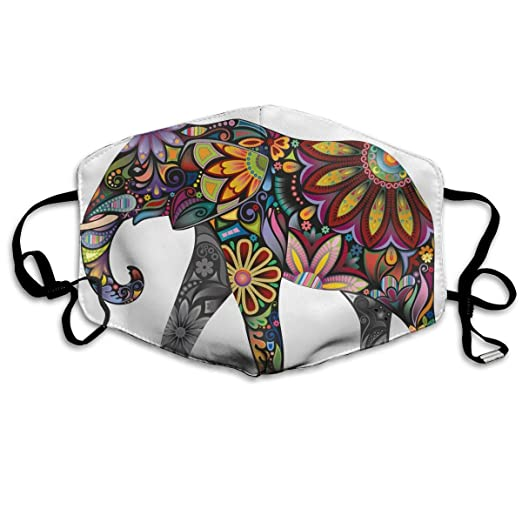 Amazon Com Elephant Drawing Anti Dust Face Mask Reusable Warm
