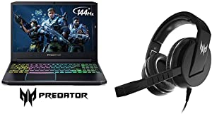 Acer Predator Helios 300 Gaming Laptop, Intel Core i7-9750H with Acer Predator Galea 311 True Harmony Sound Gaming Headset