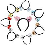 Bangtan Boys Cartoon Hair hoop Hairband Headband Portable Mini Cute Plush Hair Accessories Unisex
