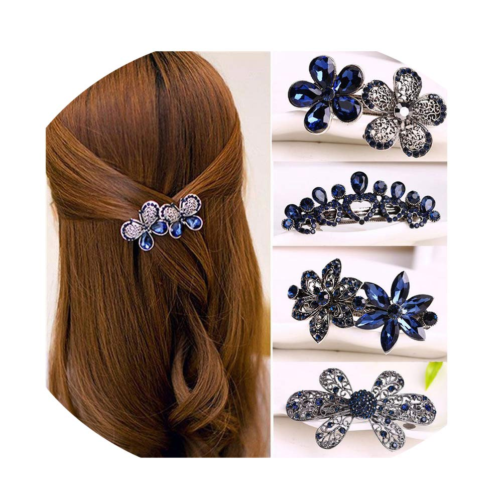 Hairpin Hair Clip Barrette Ornament for Women Butterfly Rhinestone Accessory