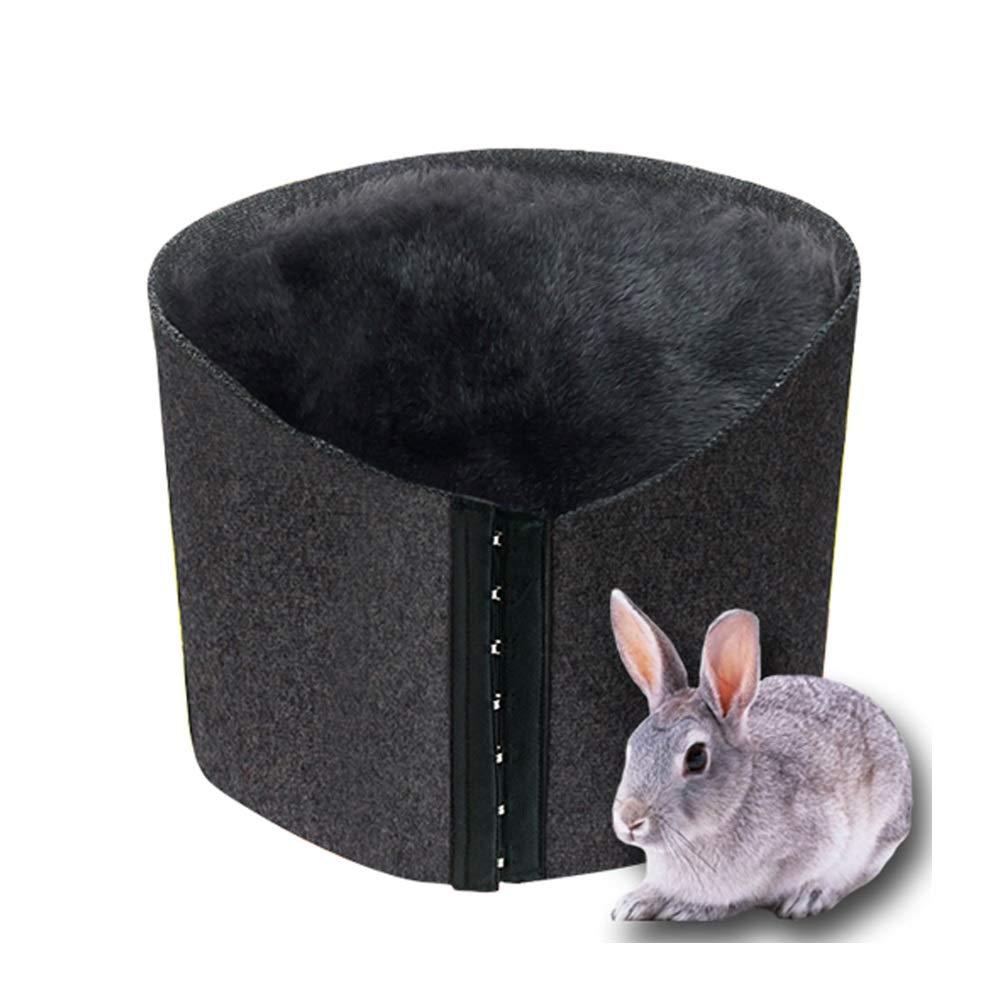QAR Rex-Kaninchenfellplüschgurtprotektor Warmer Warmer Warmer Warmer Winterpalast des kalten Winters des Bauchpalastes Gürtel (größe : XL)